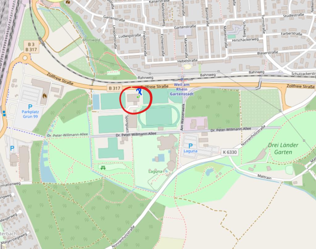 Kartendarstellung ESV Sportcenter